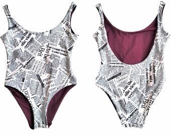 Reversible Onepiece Swimsuit -Pool Party Swimwear -  Swimsuit-Festival Bikini