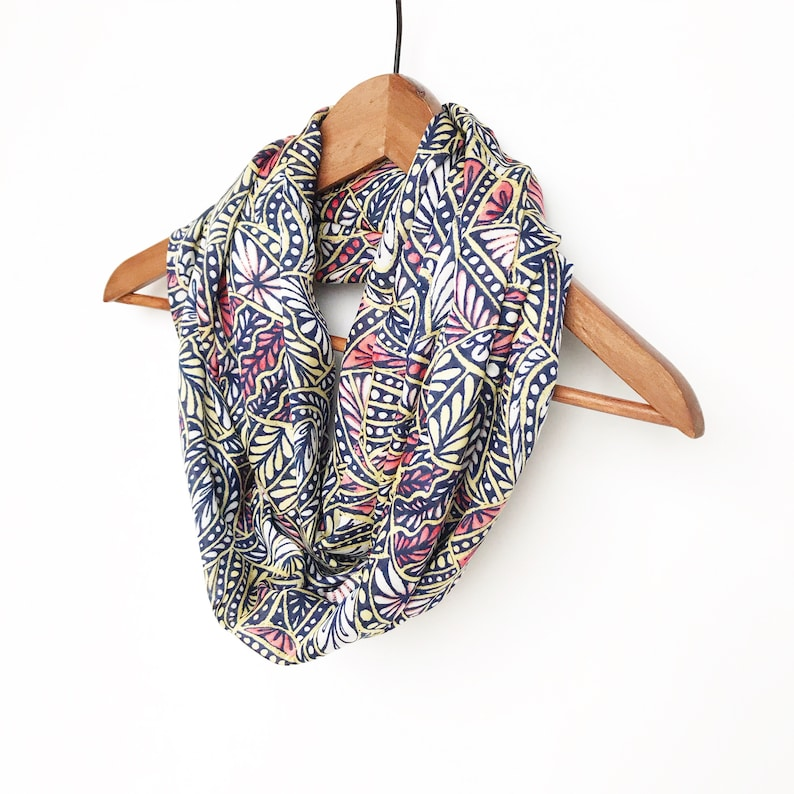 8ac763031a0 Floral Infinity Scarf Coral Scarf Spring Scarves