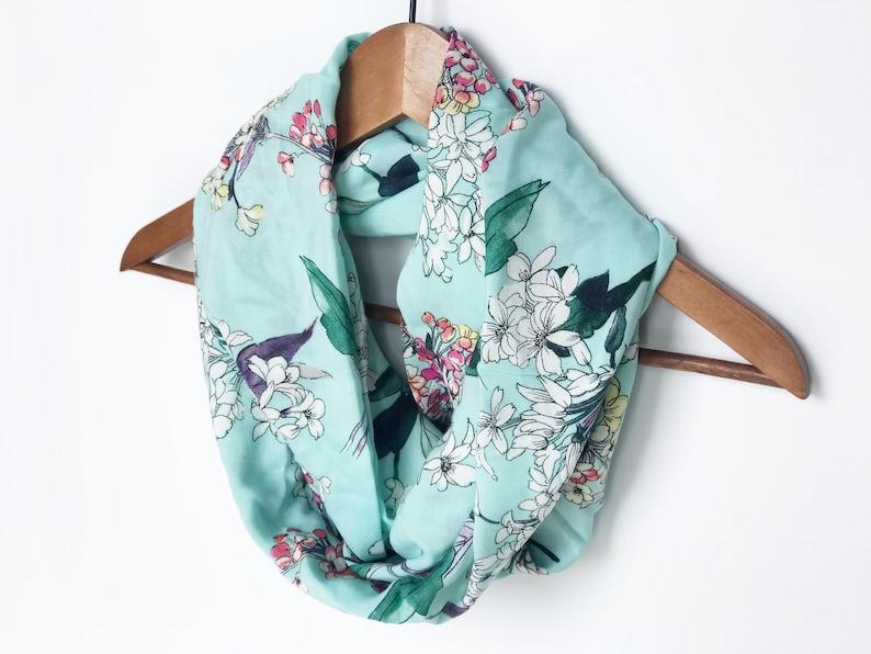 12ee346fd0b Menthe-foulard écharpe de printemps pour les femmes foulard