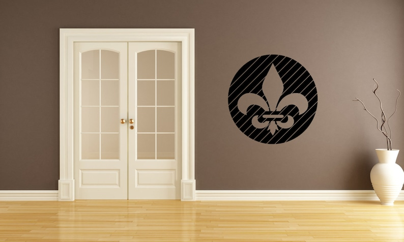Fleur De Lis Wall Decal-Removable Wall Art Sticker-Multiple image 0