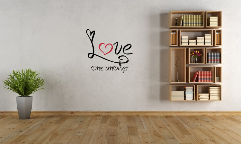 Love One Another Wall Decal-Removable Wall Art image 0