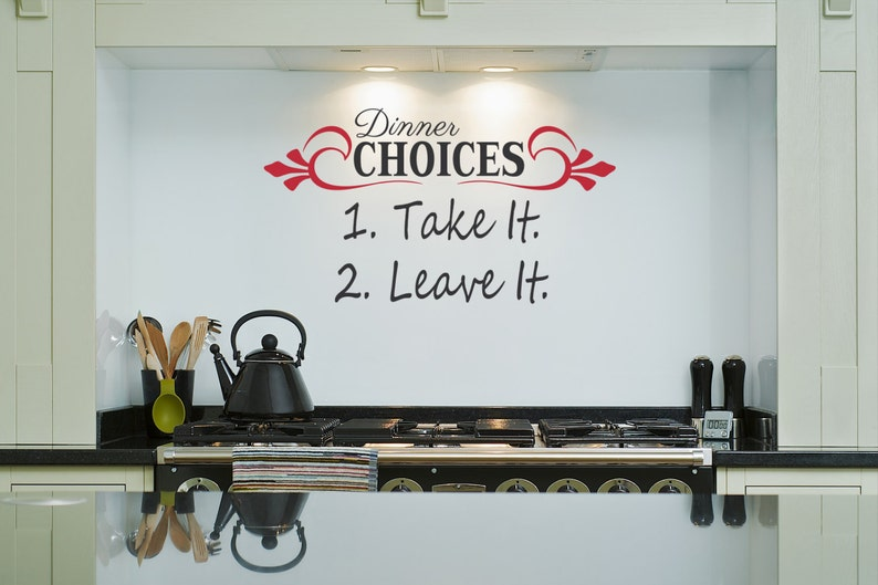 Dinner Choices Kitchen Wall Decal-Removable Wall Art image 0