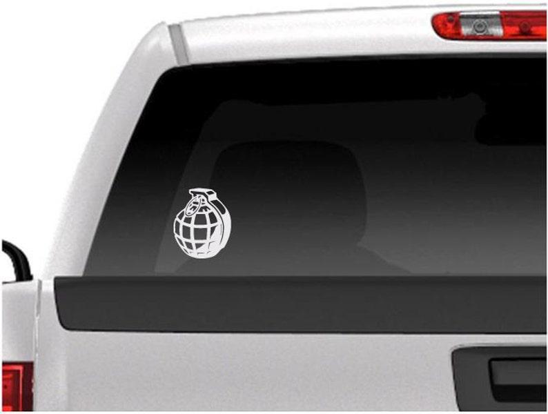 Hand Grenade Vinyl Car Window Decal Car Window Sticker Free image 0