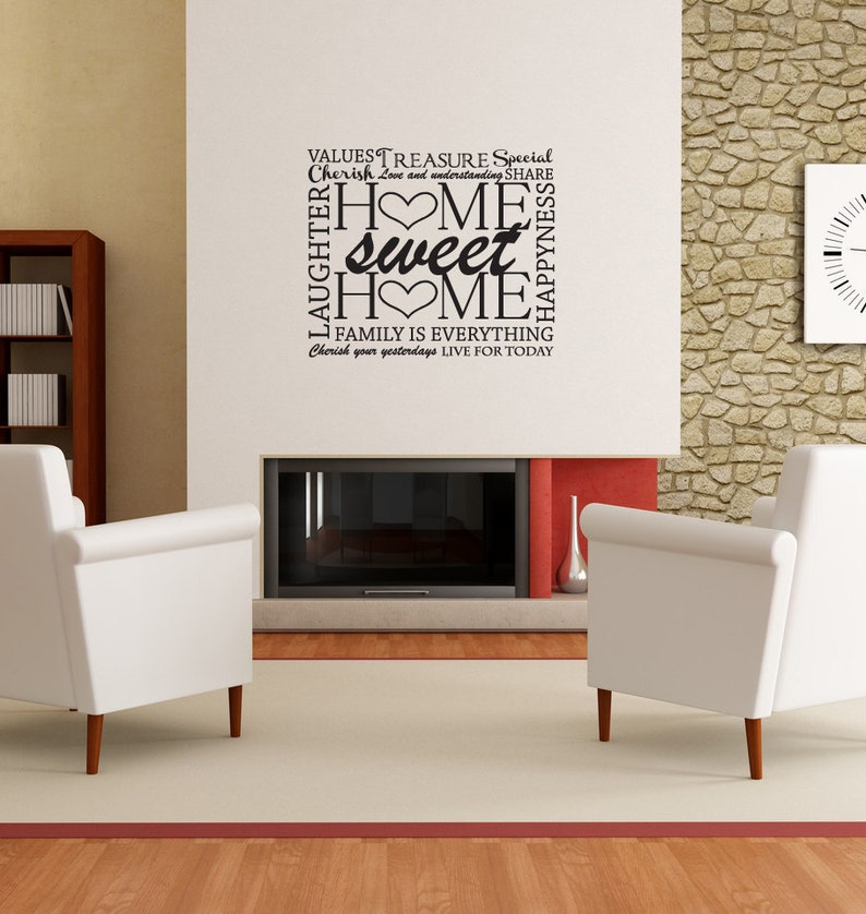 Home Sweet Home Wall Decal-Removable Wall Art Sticker-Multiple image 0