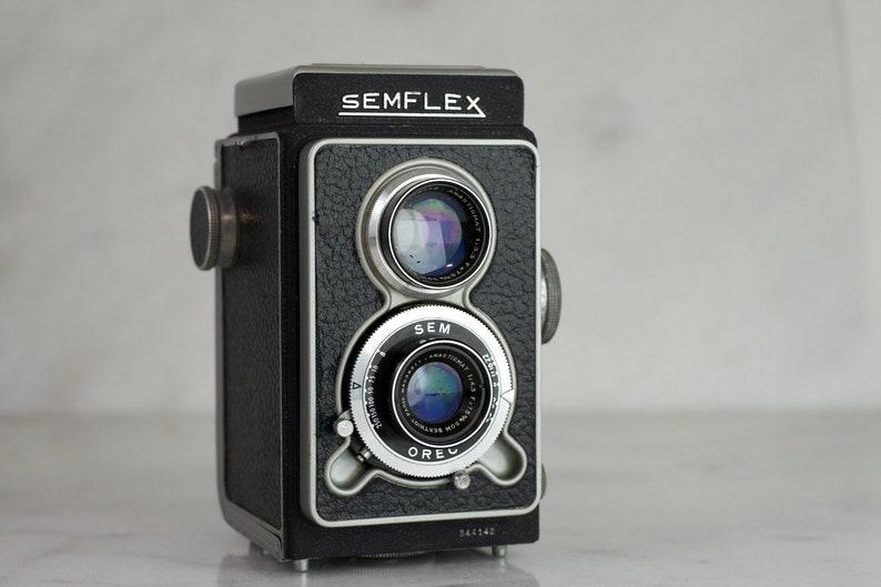 Semflex with SOM Berthiot 75mm Lens Fully Functional TLR Medium Format 120 Film Camera