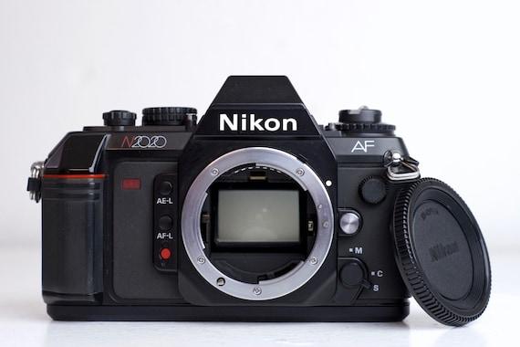 nikon n2020 35mm film slr camera with body cap etsy rh etsy com nikon n2020 user manual Nikon F 501