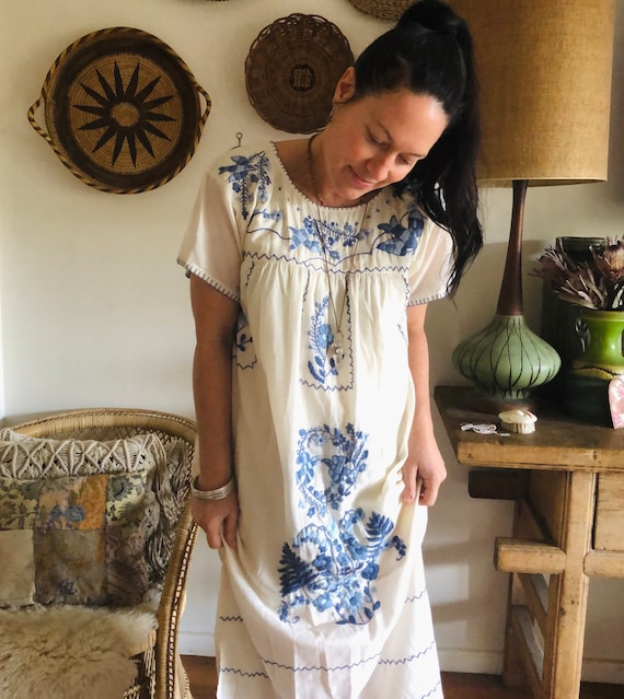 Cotton embroidered Folk Dress
