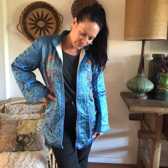 Stunning Vintage Quilted Jacket