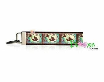 Mermaid keychain key fob wristlet