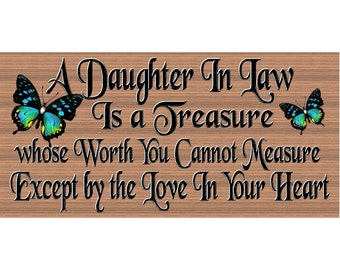 2020 Greatest Daughter-In-Law Inspirational Saying Sign Plaque Friendship Gift