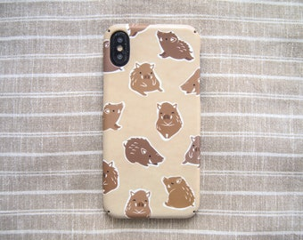Wild Boar pig iPhone case, Personalized woodland animal iPhone 11 Pro Max 7 8 6 6S Plus X XS Max XR SE case, iPhone 12 mini Pro Max case