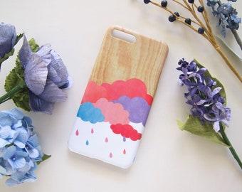 Candy Cloud iPhone SE 11 Pro 7 8 Plus X XR XS Max case, Wood pattern iPhone 12 mini Pro Max case, Personalized sky iPhone 6S Plus case