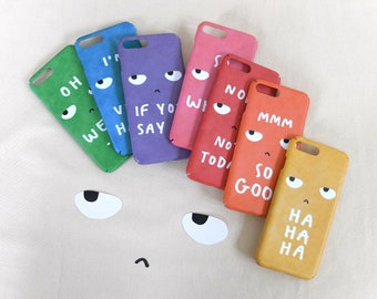 Grumpy eye roll personalized iPhone 12 mini 11 Pro Max 7 8 6 6S Plus X XS Max XR SE case, Funny quotes, Sarcastic meme gifts
