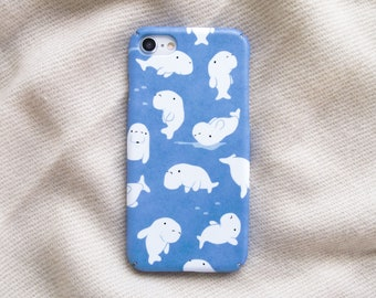 Dugong Manatee iPhone case, Personalized sea animals gift, iPhone 12 mini 11 Pro Max XR X XS Max 8 7 6 6S Plus SE case, Samsung S8 S9 Plus