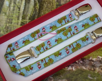 """Original gift box clip pacifier and clip """"The little Red Riding Hood"""" blanket-"""
