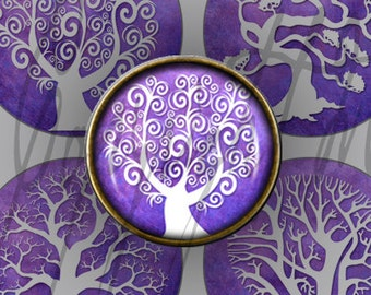 Digital Download - Purple Tree of Life 1.50 inch Rounds images bottlecap jewellery, pendants, and magnets
