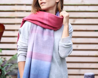 Personalised Ombre Colour Shades Scarf
