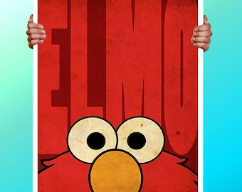 Elmo wall art | Etsy