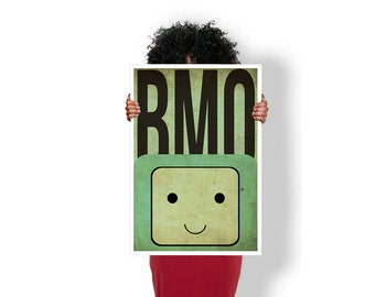 Adventure Time BMO Beemo Faces  - Art Print / Poster / Cool Art - Any Size