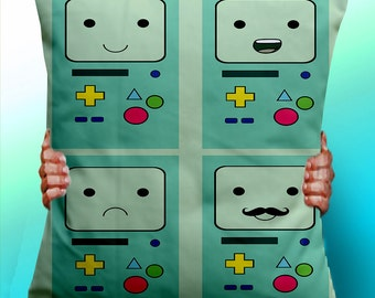Adventure Time BMO Beemo Faces - Cushion / Pillow Cover / Panel / Fabric