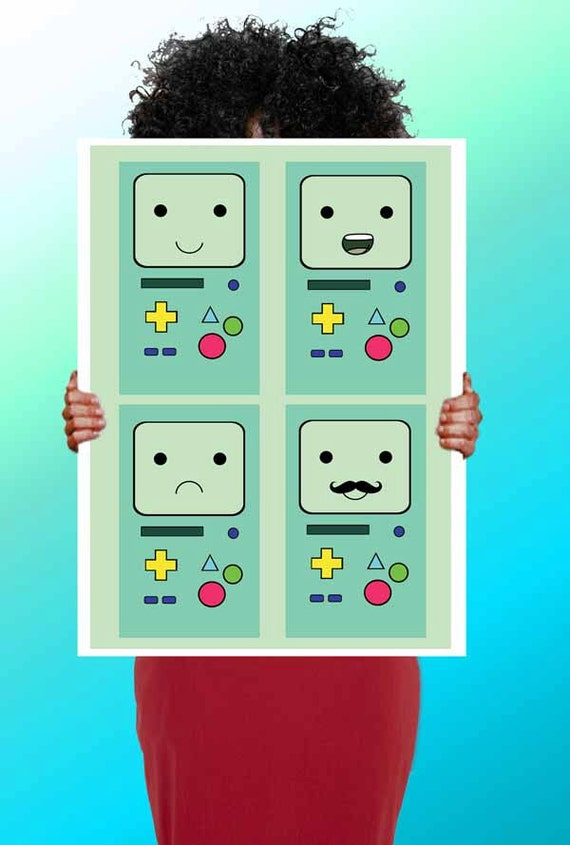 Adventure Time Beemo poster print