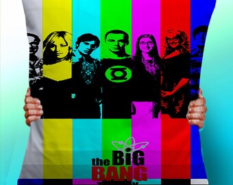 Big Bang Theory Cast - Cushion / Pillow Cover / Panel / Fabric
