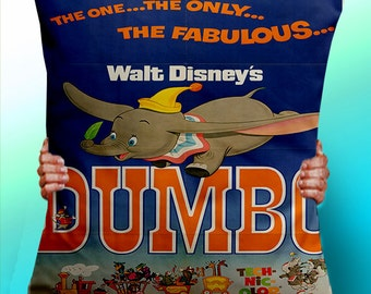 Dumbo Elephant - Cushion / Pillow Cover / Panel / Fabric