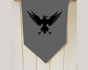 Game Of Thrones Nights Watch - Wall Hanging Banner Flag Fabric pennant Cotton home decro decro