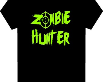 Zombie Hunter  -  Funny Adult Zombie T-Shirt