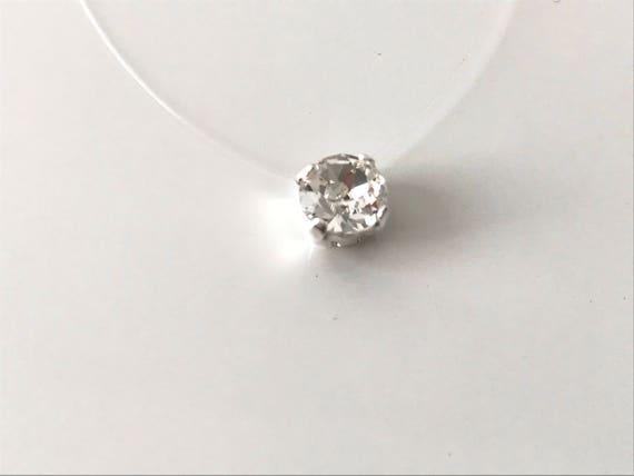 migliori marche ricco e magnifico dove posso comprare Collana strass bianco lucido lucido swarovski cristallo solitario,  matrimonio, da sera