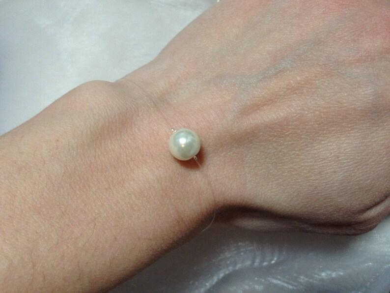 Set necklace bracelet earrings jewelry Ivory Pearl beads