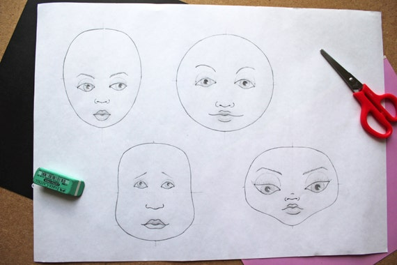 How To Draw Face Tutorial Cloth Doll Pdf Step By Step Guide Drawing A Face Rag Doll Paint A Face Face Painting For Beginner Faces
