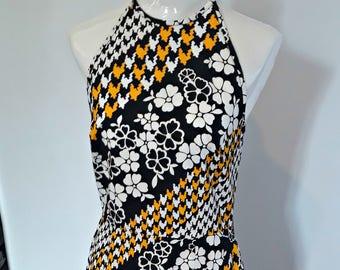 Vintage Sidgreene of London Maxi 70's dress