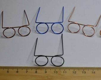 Sunglasses in metallic filo in miniature - SET 12 pieces diam.12mm