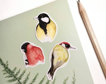 Bird stickers for bullet journaling and decoration