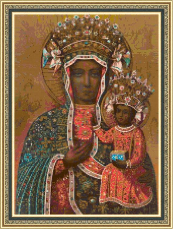 Czestochowa Madonna Cross Stitch Pattern Pdf Etsy