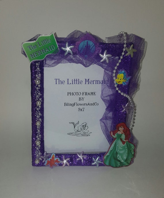 Ariel Picture Frame The Little Mermaid Picture Frame Etsy