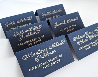 Wedding Memory Table | Memory Table Tags | Memory Table Cards | Memory Table Labels | Memory Table Sign | Navy Tented Cards | Navy Wedding