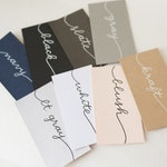 Wedding Place Cards | Handwritten Place Cards | Wedding Place Cards | Flat Cards | Escort Cards | Calligraphy | Blank DIY Cards | Blush Card