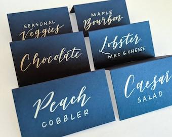 Calligraphy Buffet Cards | Wedding Buffet Labels | Wedding Buffet Sign | Wedding Table Cards | Wedding Table Tents | Wedding Table Tents
