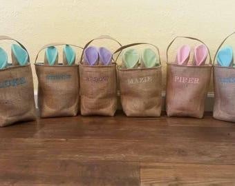 Burlap Easter bags/totes