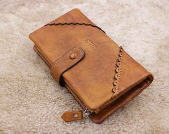 18a45b62ad Trifold Leather Wallet Woman
