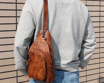 a01ef1e01c Leather sling bag