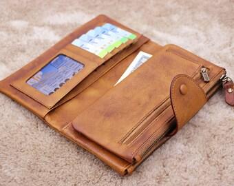 7d55704a53 Leather wallet women