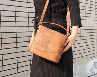 Leather Shoulder Bag, Brown Leather Bag, Leather Crossbody Bag, Leather Messenger Bag Women, Leather satchel, School Bag