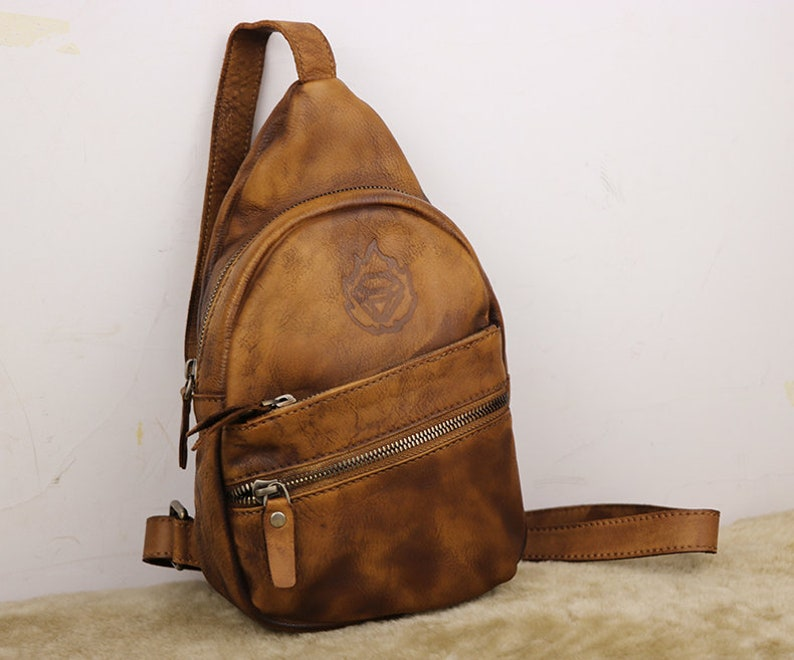 da53fdfe3ac5 Sling Bag Backpack Leather Sling Bag Womens Shoulder Bag