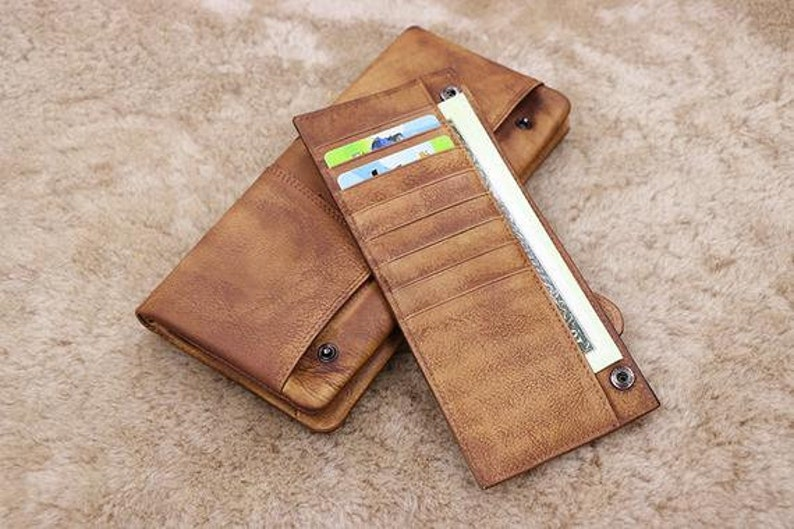Fathers Day Gift The Perfect Gift for Dad Multifunctional Wallet or Groomsmen Gift Boyfriend Gift Personalized Men/'s Leather Wallet