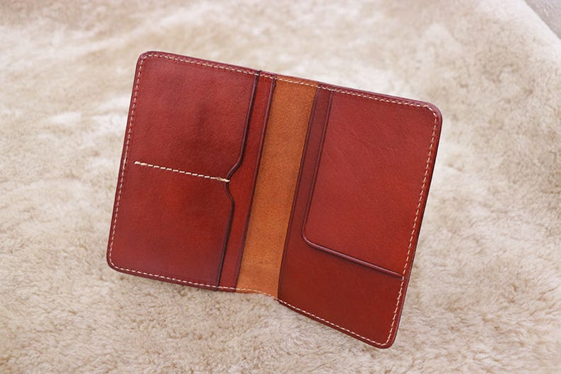 Monogram Leather Travel Wallet Personalized Leather Passport Wallet Travel Wallet Passport Case Passport Wallet Leather Passport Holder
