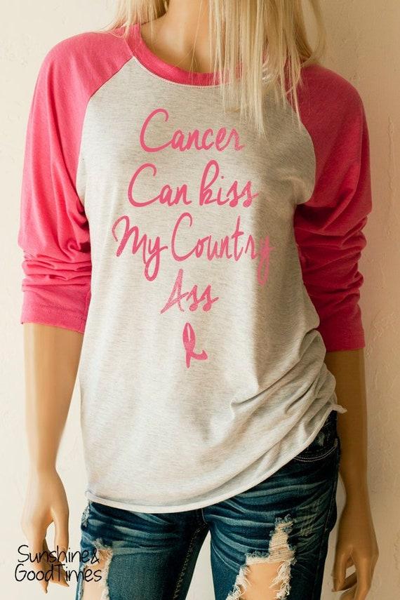 Pink Ribbon Breast Cancer Awareness Athletic 3//4 Sleeve Cotton Tee Raglan