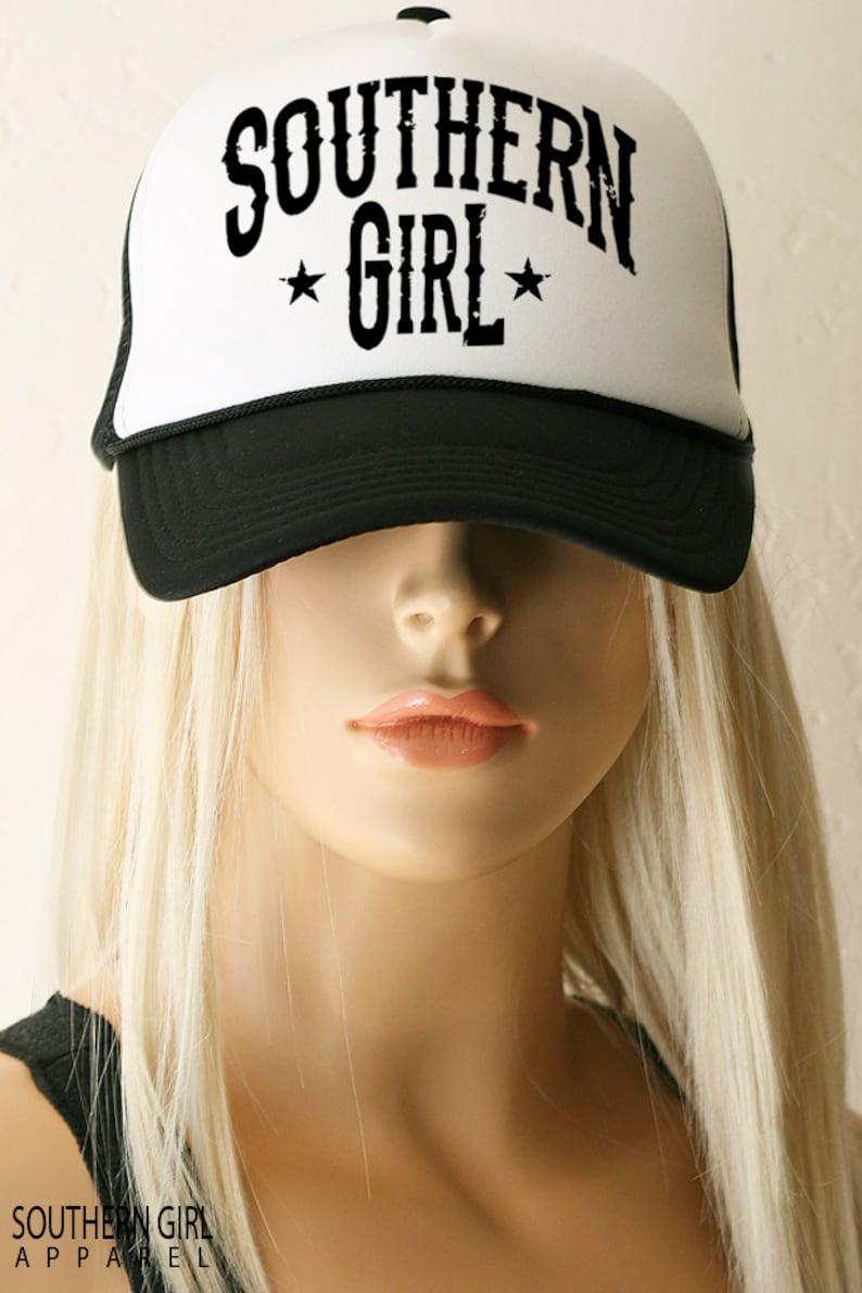 6d468e6afe002 Southern Girl Trucker Hat. Southern Girl Baseball Hat.
